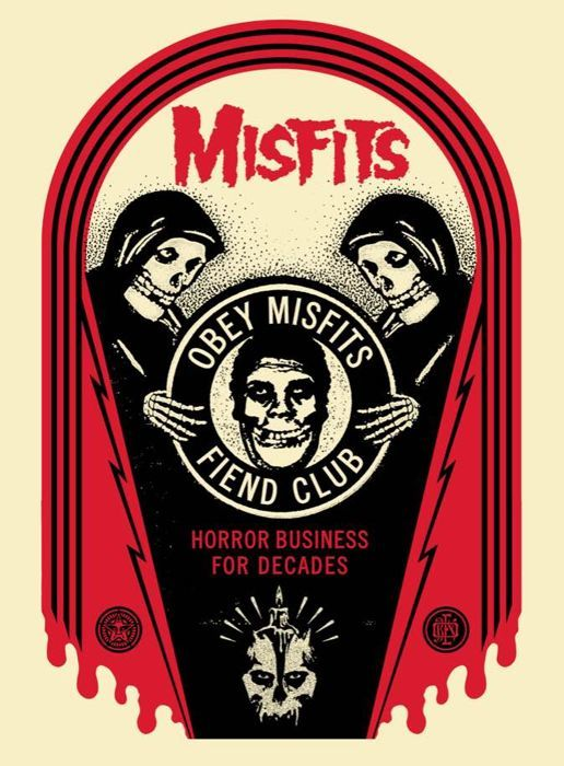Shepard Fairey (OBEY) - Misfits - Horror Business Tomb