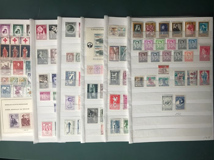 België 1955/1960 - Six complete years with 'South Pole' and 'King with glasses' - OBP / COB 961/1089