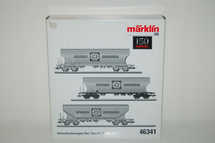 "Märklin H0 - 46341 - Freight carriage - Set of grain trucks ""Groupe Soufflet"" - SNCF"