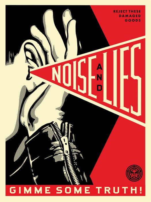 Shepard Fairey (OBEY) - Noise and Lies (Red)