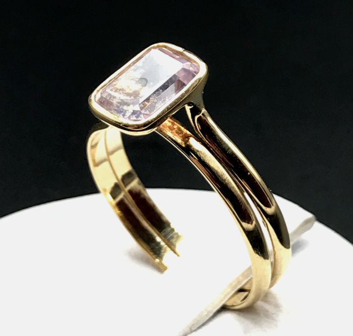 18 kt. Yellow gold - Ring - 3.00 ct Rose quartz Jewellery Premium Jewellery for sale