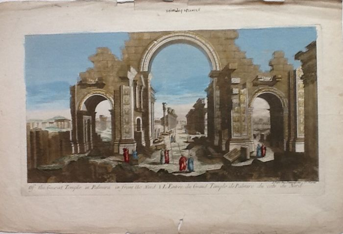 Egipto, Giza; Daumont - Of the great temple in Palmira - 1761-1780