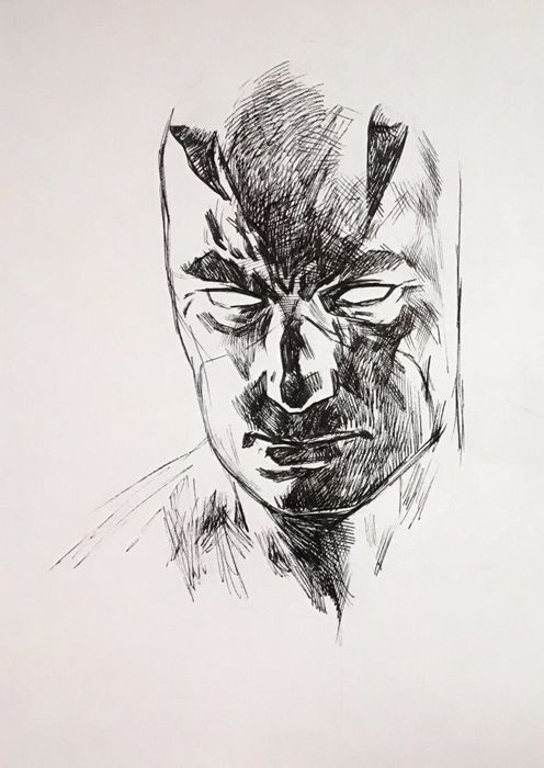 Daredevil 64 - Alex Maleev - Cover tekening Daredevil #64 - Original Art - (2004)