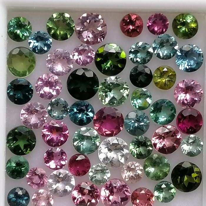 51 pcs  Tourmaline - 5.55 ct