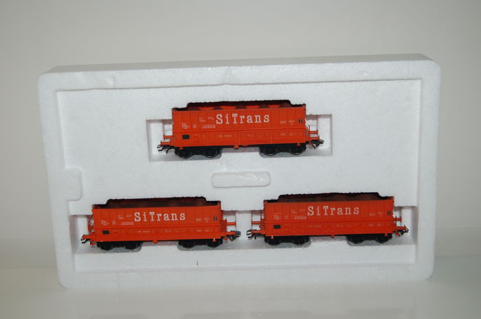 Märklin H0 - 48448 - Freight carriage - 3 cars ore transporters - NMBS