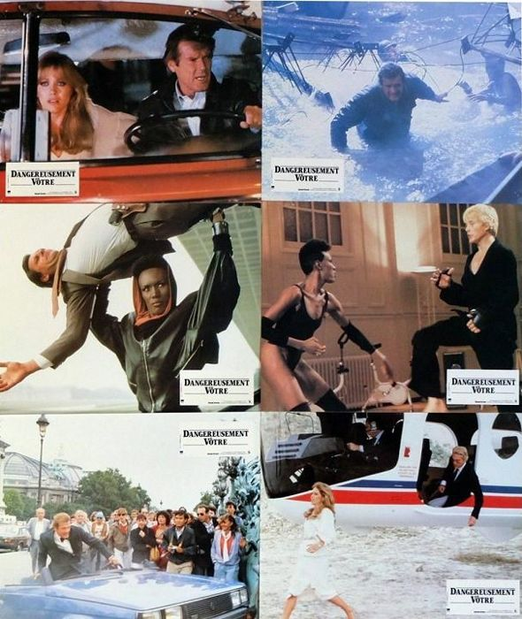 James Bond 007  - A View to a Kill (1985)  Complete French Lobby card Set of 12