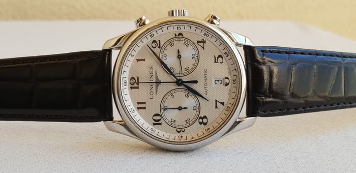 Longines - Master Collection - Automatic Chronograph - White Patterned Dial - Full Set  - Reference L3.666.4 - Hombre - 2011 - actualidad