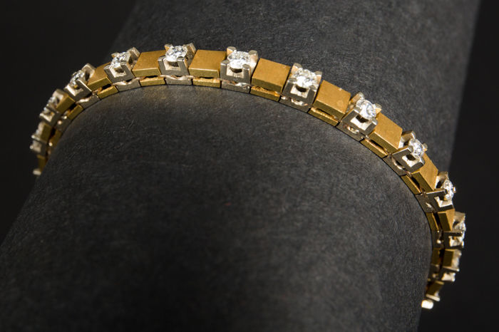 18 kt. Bicolour - Bracelet Diamond