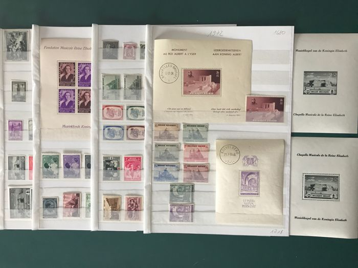 België 1937/1940 - Four complete years with Rubens House - OBP / COB 446/546