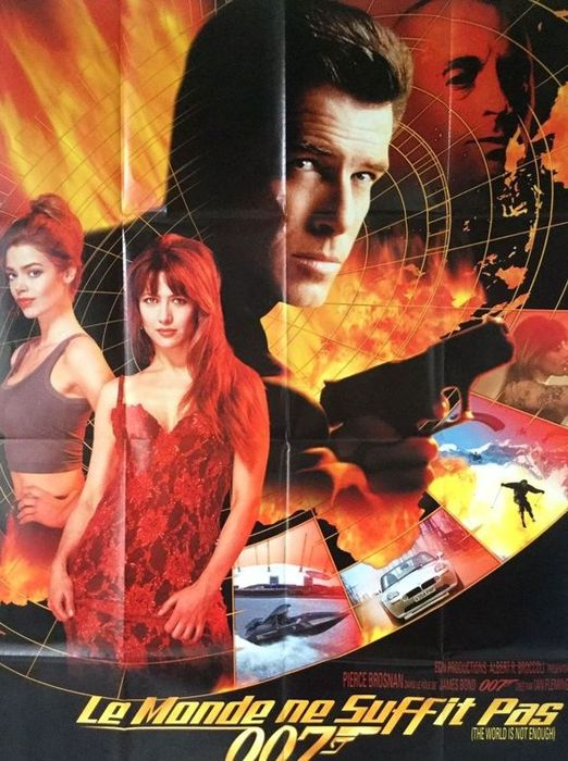 Tomorrow Never Dies, 1997 / The World is not Enough, 1999 - James Bond 007 - Pierce Brosnan - Set of 2 original release posters