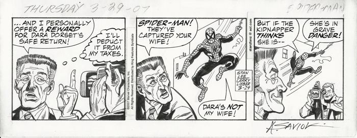 Spiderman # 3-29 - original art strip by Larry Lieber and Alex Saviuk  - First edition - (2007)