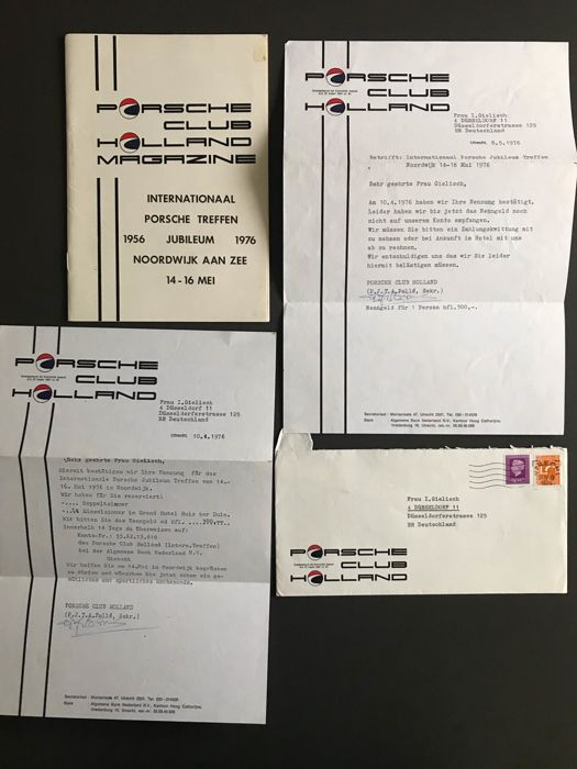Brochures / catalogues - Porsche treffen jubileum club holland 1976 programma uitnodiging  - 1976 (4 items)