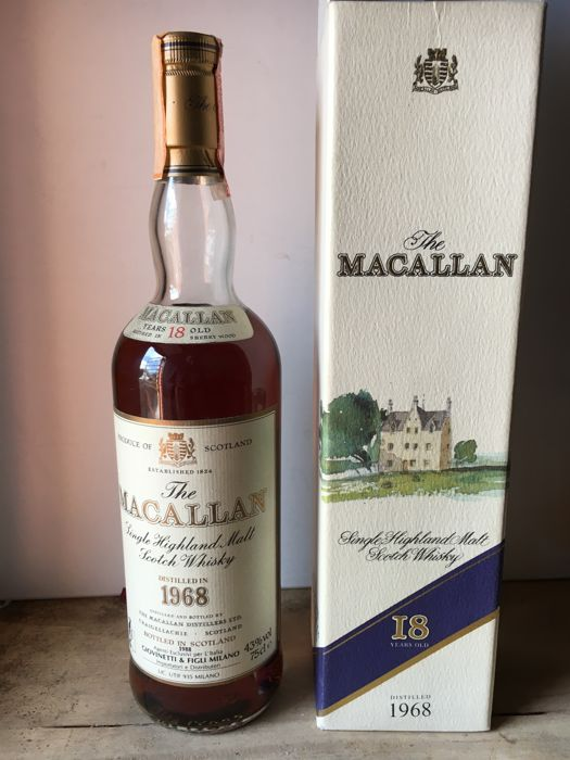 Macallan 1968 18 years old - Official bottling - b. 1988 - 75cl