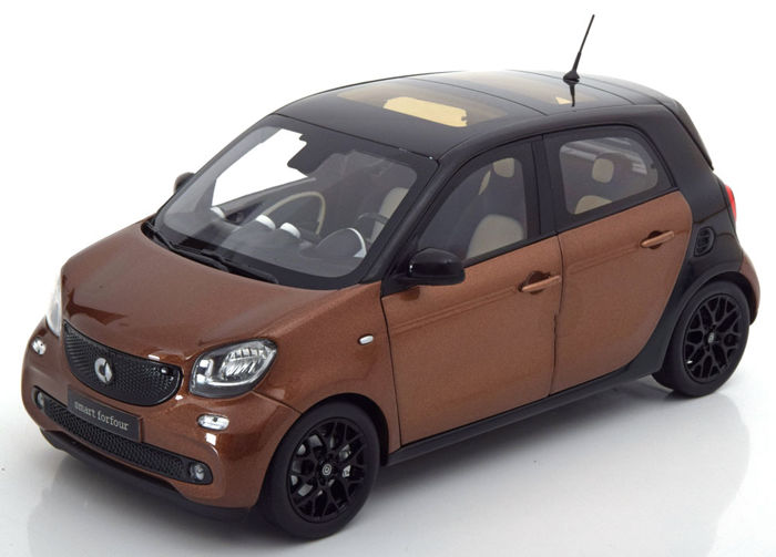 Norev - 1:18 - Smart forfour Coupe (W453) - black / brown