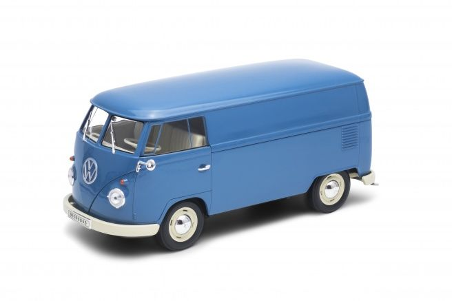 Welly - 1:18 - Volkswagen VW T1 Bus Spare parts service -  year 1963 blue