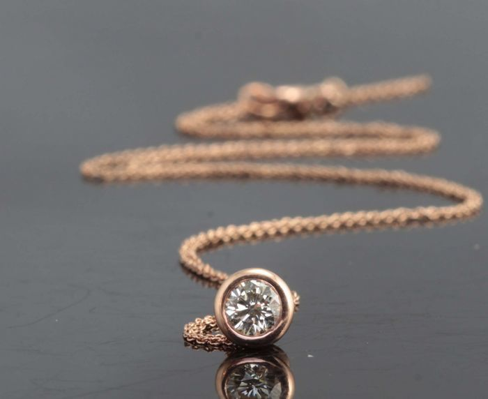 14 kt. Pink gold - Pendant - 0.30 ct Diamond