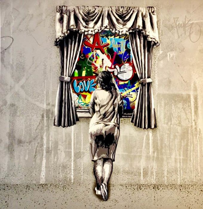 "Martin Whatson - ""Girl at the window"" - Hand Finished"