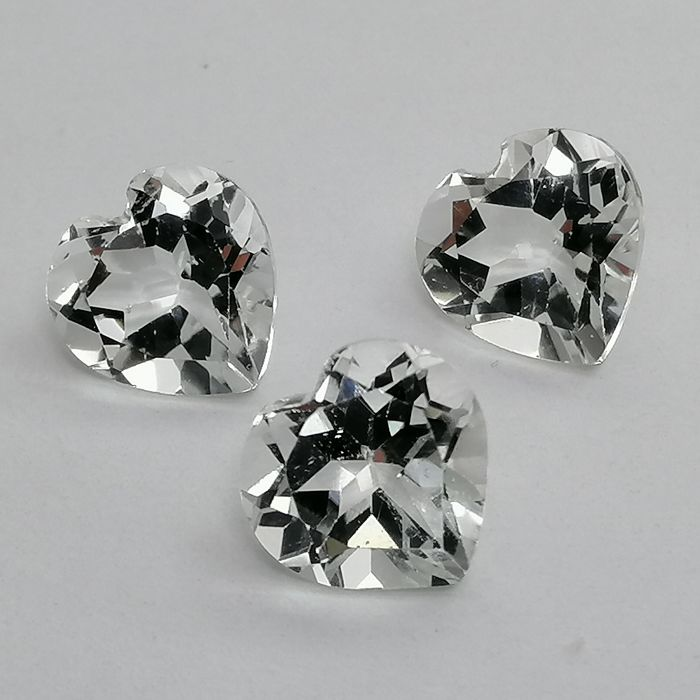 3 pcs Blanco Topacio - 4.64 ct