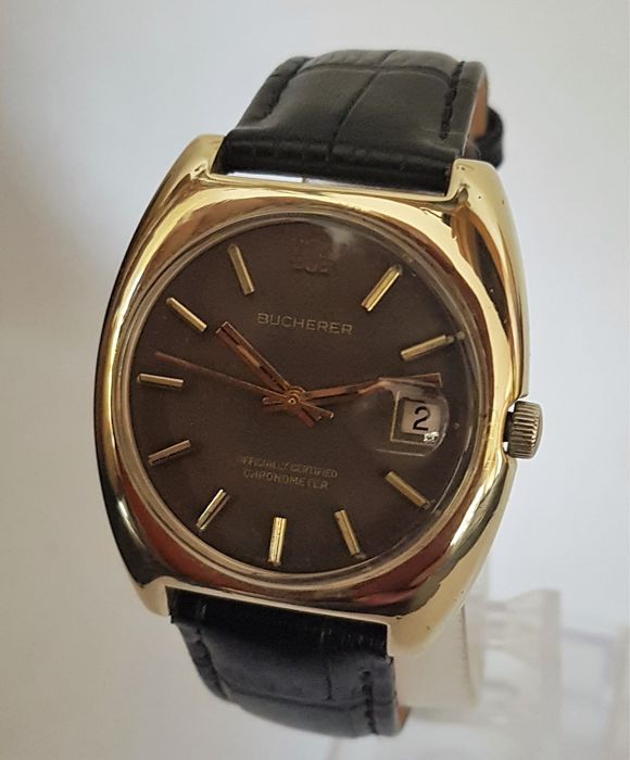 "Bucherer - Officially Certified Chronometer - Automatic ""NO RESERVE"" - Men - 1970-1979"