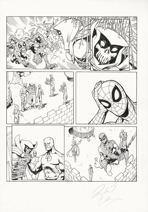 Spiderman, Tower Of Power 22 - Original Art Page By Richard Elson - First edition - (2008)