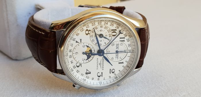 Longines - Master Collection - Automatic Chronograph - Moon Phase - Ref. L2.673.4 - Men - 2011-present