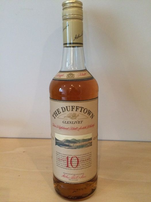 Dufftown 10 years old - Arthur Bell & Sons plc - b. 1980s - 75cl