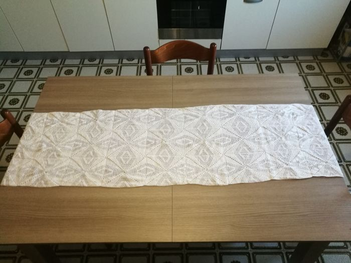 Cotton crochet table runner