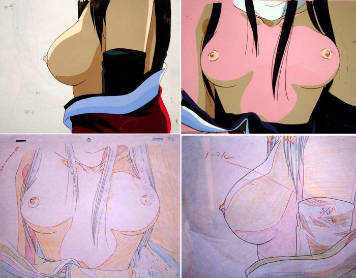 x2 Countdown Temptation + drawings - animation cel - erotique