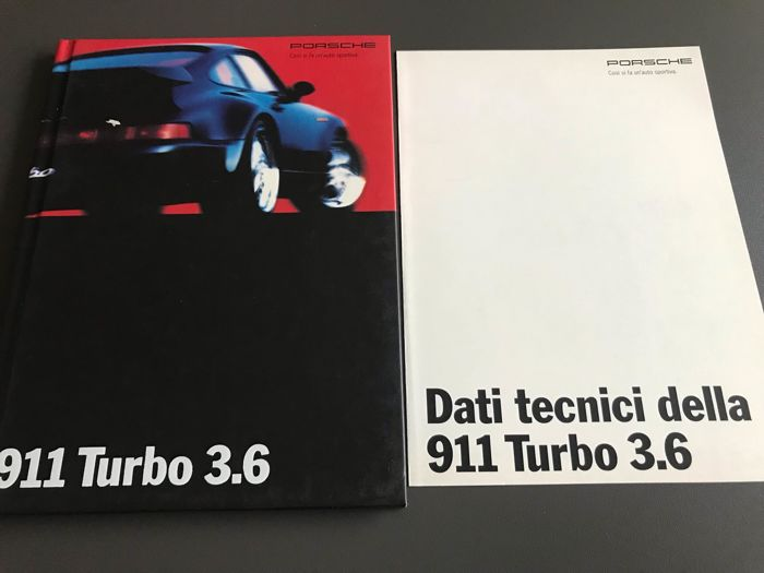 Brochures / catalogues - Porsche 911 964 965 3.6 Turbo Folder italiaans data technici - 1992-1993 (2 items)
