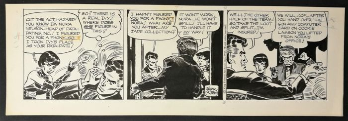Johnny Hazard # 8-22 - original strip art by Frank Robbins - First edition - (1969)