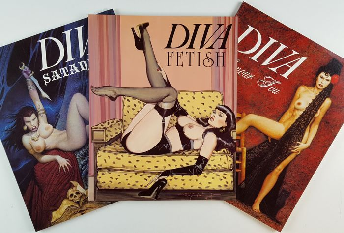 Diva - 3x vol. Satanica, Fetish, Amour Fou - Softcover - Mixed editions - (1989/1996)
