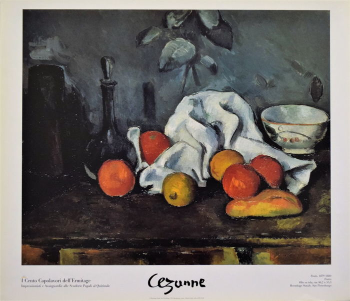 Paul Cézanne - Fruits - 100 masterpieces of the Hermitage - 1999