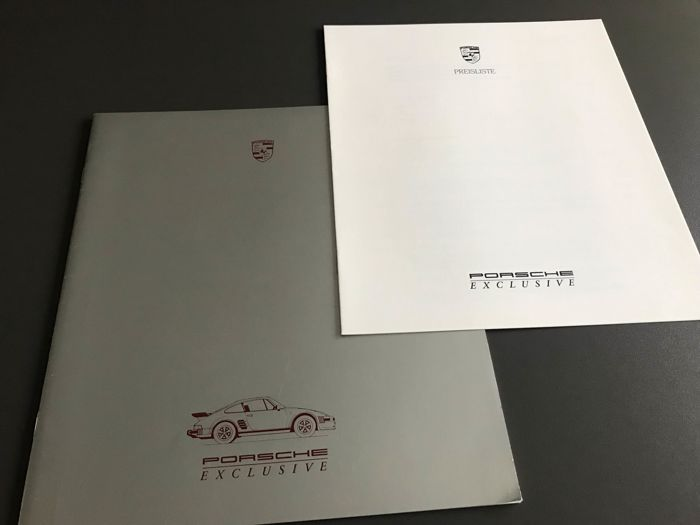 Brochures / catalogues - Porsche exclusive sonderwunsch 911 928 924 944 prijslijst - 1986-1987 (2 items)
