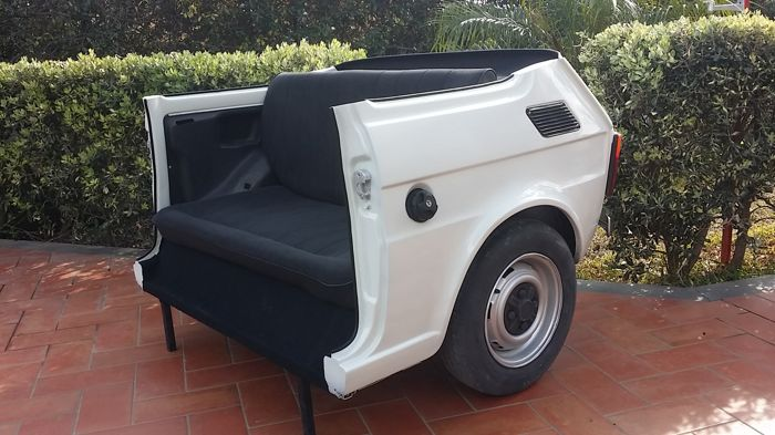 Decorative object - FIat 126 Sofa with working lights remote controlled - 1970 (1 items)