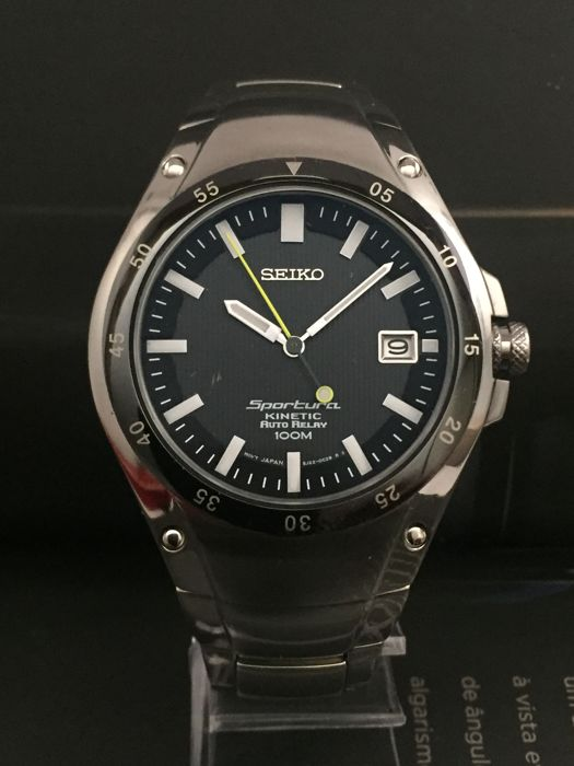 Seiko - 'NO RESERVE PRICE' Sportura Kinetic Auto-Relay  - 311074 - Hombre - 2000 - 2010