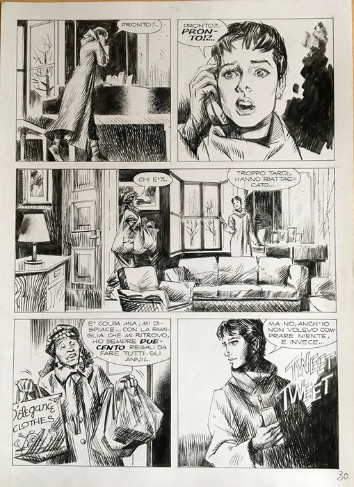 Julia n. 51 - Giorgio Trevisan - original page - Loose page - First edition - (2002)