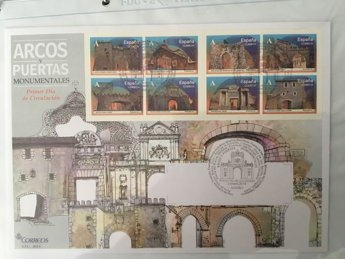 Spain 2014 - Complete collection of First day covers, 2014 - Edifil