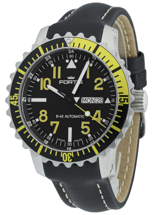 Fortis - Marinemaster Day/Date Yellow - 670.24.14 L.01 - Heren - 2011-heden