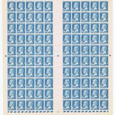Frankreich 1923/26 - Fakes from Marseille in complete sheet of 100 copies with Calves certificate - Yvert 181a