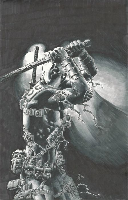 Deadpool - original Cover Artwork by Mike Deodato Jr - First edition