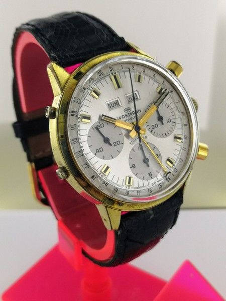 Wakmann - big 37 mm triple calendar chronograph Valjoux 72C/730 - 71.1311.21 - Men - 1950-1959