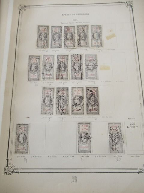 Frankrijk - Advanced collection of excise stamps