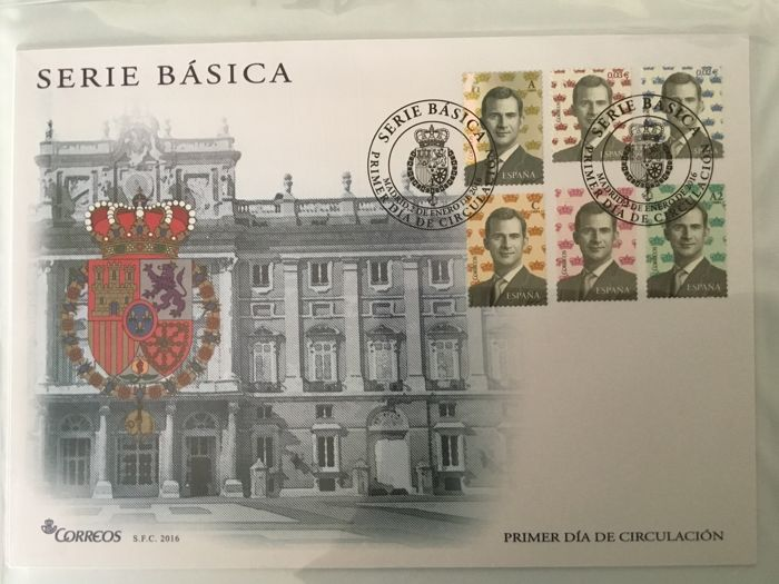 Spain 2016 - Complete collection of First day covers, 2016 - Edifil