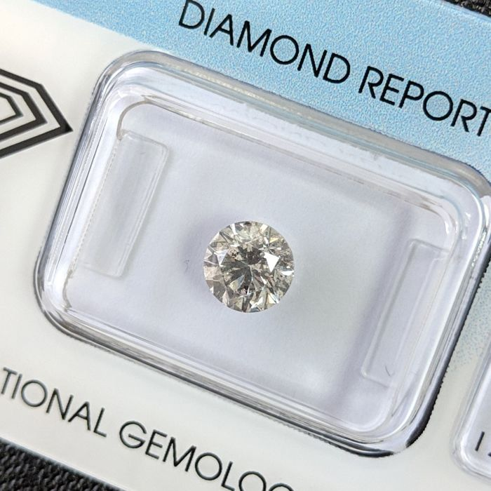 Diamante - 1.02 ct - Brillante - I - I2, IGI Antwerp - No Reseve Price