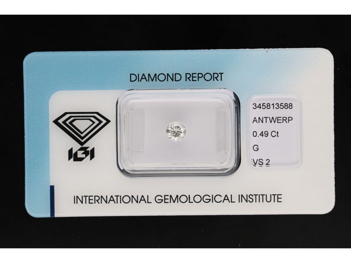 1 pcs Diamond - 0.49 ct - Briliant - G - VS2