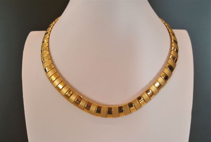 CROWN TRIFARI Plaqué or 18 carats - Collier Alphred Philippe Omega