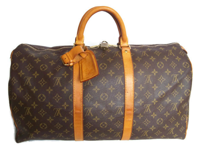 014b9fd7355 Louis Vuitton - Keepall 50 Luggage bag + LV accessories - *No Reserve  Price!* - Catawiki