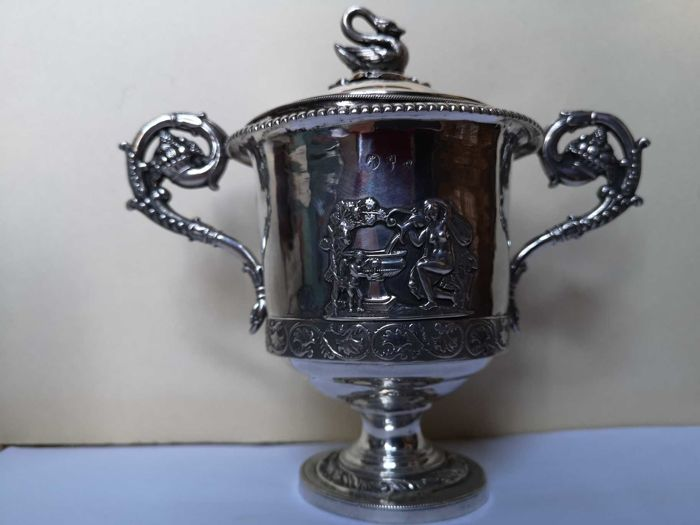 Sugar pot - Silver - Italy - Early 19th century
