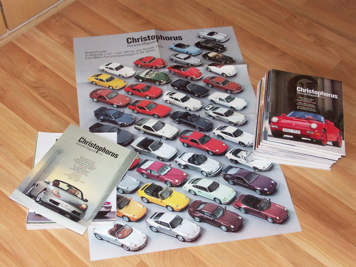 "Brochures / Catalogi - Porsche Magazin ""Christophorus"" - 1993-1998 (29 items)"