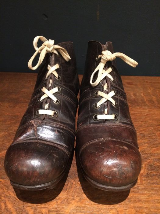 e71056dac7b football boots - vintage soccer boots - whole of leather - leather studs - very  rare